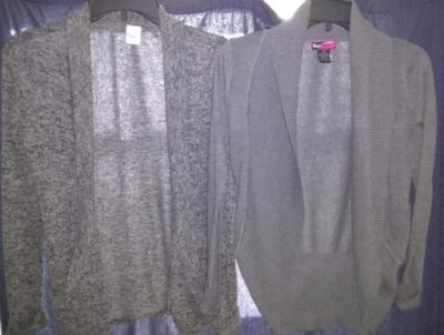 Two grey cardigans small