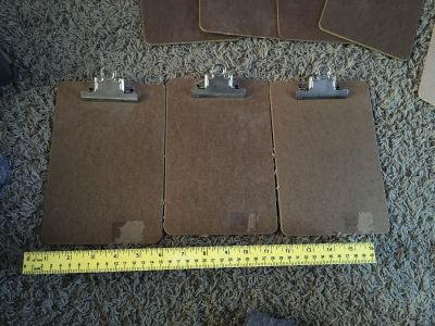 New - 3 Small Clipboards