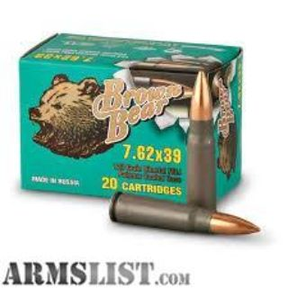 For Sale: BROWN BEAR 7.62X39 500 ROUND CASE