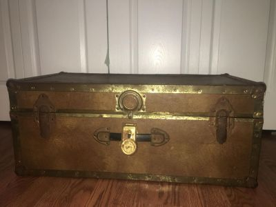 Large vintage trunk. Perfect DIY project!