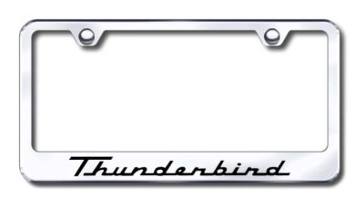 Find Ford Thunderbird Engraved Chrome License Plate Frame -Metal Made in USA Genuin motorcycle in San Tan Valley, Arizona, US, for US $30.98