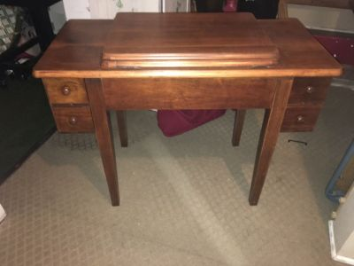 Old sewing table