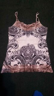 EUC cute! Maurices cami tank adjustable straps sz med