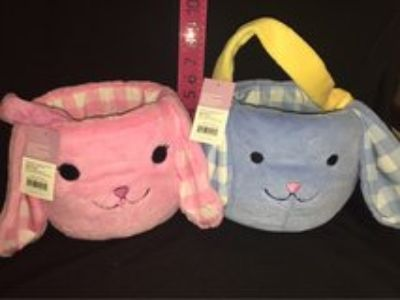 Plush Bunny Baskets