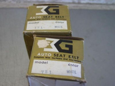 Buy Pair of Vintage NOS Auto Seat Belt Model 721 White Front Seat Belts Hot Rat Rod motorcycle in Franklin, Indiana, US, for US $14.99