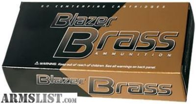 For Sale: CCI 5200 Blazer 9mm Luger 115 GR Full Metal Jacket Round Nose 50 rounds-flat rate shipping $14.95