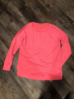 Cute bright pink like new large sweatshirt from JC Penny $5