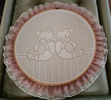 Embroidery Hoop With Lace