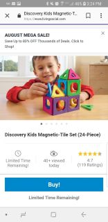 Discovery Kids Magnetic Tile Set