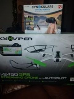 SKYVIPER DRONE W/GPS &VIRTUAL REALITY HEADSET!