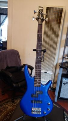 IBANEZ GIO MIKRO GUITAR BASS GSRM20 MADE IN INDONESIA IN BLUE COLOR