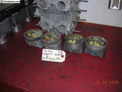 Porsche 2.8 92mm MAHLE pistons FOUR(4)