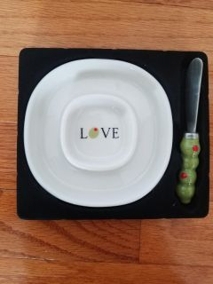 Love Olive dish and spreader