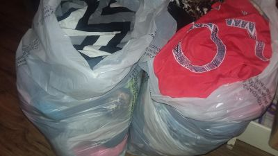 2 trash bags of ladies clothes