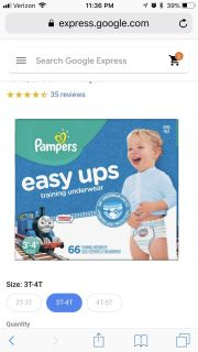 ISO Pampers Easy ups 3T-4T
