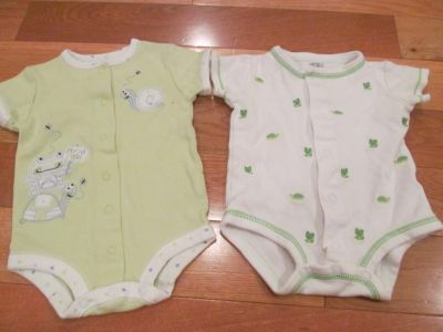 Carters and First Moments 3 mo frog onesies *Price is for both