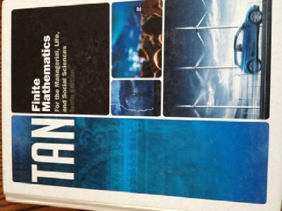 $100 OBO College Finite Math Book