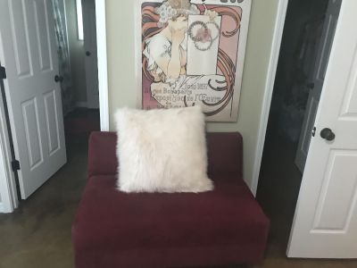 Red love seat!