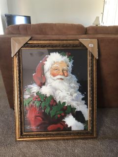 New Santa Picture from Kirkland s. Still in packaging. 33 X 27 . Gorgeous.