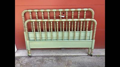 Antique Jenny Lind Double Bed original paint!!! One of a Kind!!