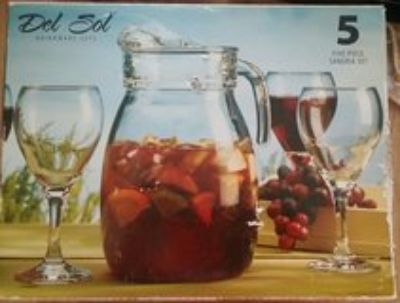 5 piece drinkware set