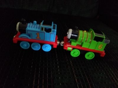 Take along trains Thomas and Percy