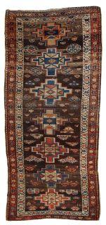 Handmade antique Persian Kurdish rug, 1C385