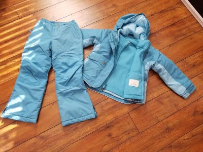 Girls Lands End snow pants and jacket