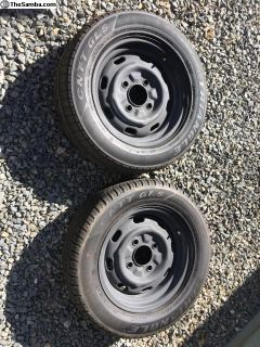 Two 205/60R15 tires and wheels / rims