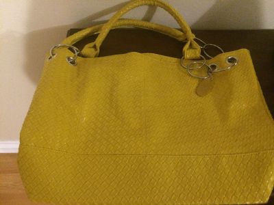 MSC Mainstreet Collection mustard color purse18in long 27 1/2 in tall $7