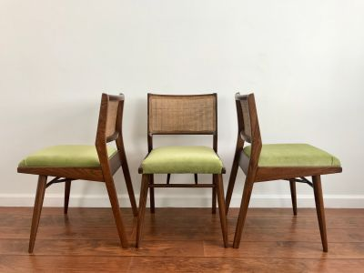 MID CENTURY MODERN Set of 3 Dining Chairs