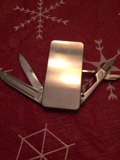 """Money clip (with """"attachments"""") Stainless steel"""