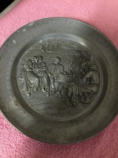 """9"""" PEWTER PLATE"""