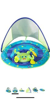 NEW! SwimWays Baby Spring Float Activity Center with Canopy - Inflatable Float