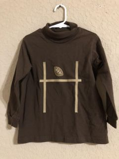 Funtasia Too Touchdown Brown Knit Turtleneck With A Field Goal and Football On The Front. Very Nice Condition READ BELOW ON THIS SHIRT
