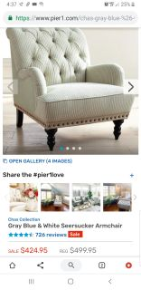NEW Pier One Chair and Ottoman
