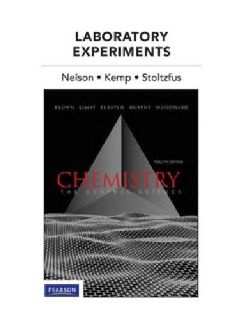 $90 OBO Chemistry: Central Science -Lab. Experiments - 12th edition