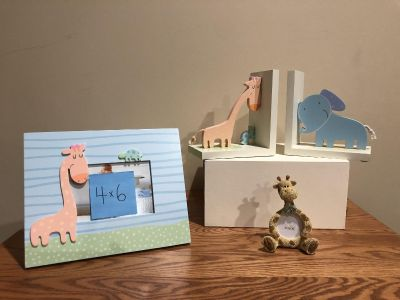 Baby Nursery Safari Theme Picture Frames & Bookends
