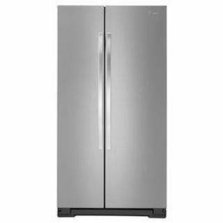 "Whirlpool 36"" Stainless Side by Side Refrigerator 25 cf *Closeout*"