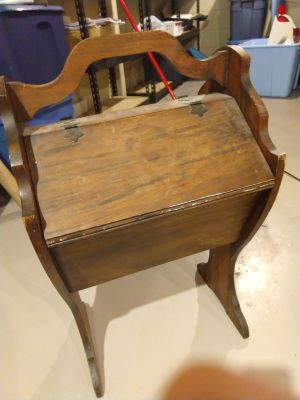 Antique wooden sewing stand
