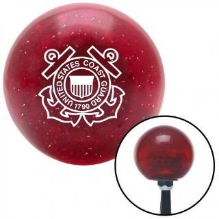 Find White USCG Logo Red Metal Flake Shift Knob with 16mm x 1.5 Insert rat rod rv motorcycle in Portland, Oregon, United States, for US $29.97
