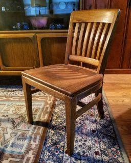 1940s Gunlocke Oak Office Chair
