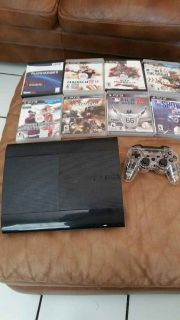 PS3, 2 Controllers and 8 games