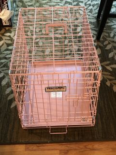 Pink dog crate