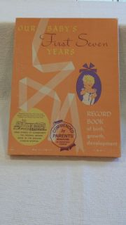 VINTAGE - 1960'S Our Baby's First Seven Years Record Book