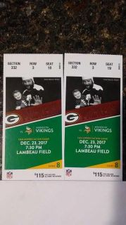 Two Packers vs Vikings Tickets
