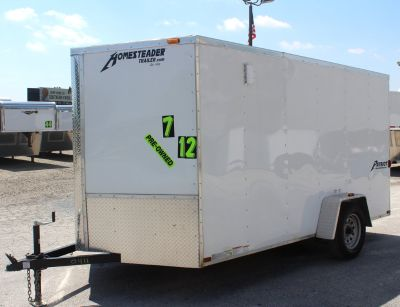 Used 2016 Homesteader 7'x12' Trade In, Ramp Door
