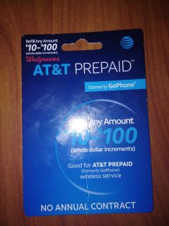 $45 AT&T reload card