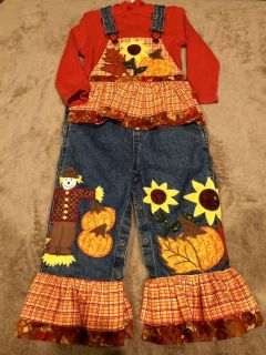 FALL INTO FUN! Adorable CUSTOM MADE on ETSY Autumn 2-Piece Toddler Overalls