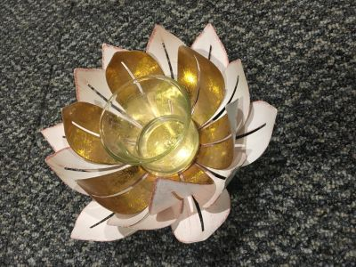 Lotus flower candle holder